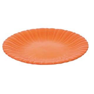 Large Orange Art Pottery Charger