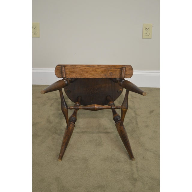 Wood Windsor Style Childs Youth Arm Chair by K. Malone (18th Century Reproduction) For Sale - Image 7 of 13