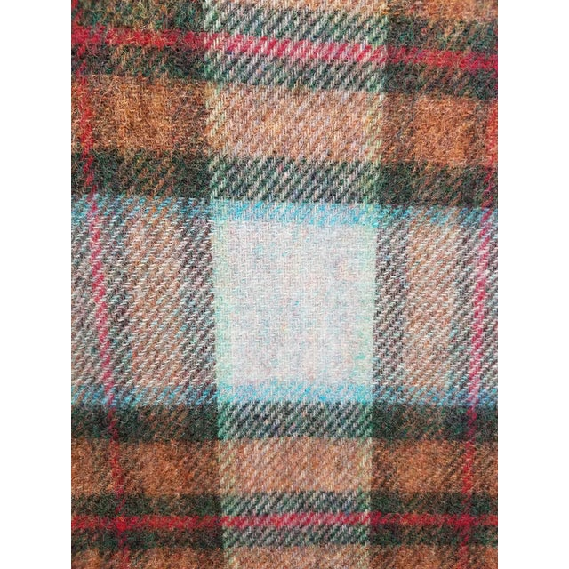 Textile Wool Throw Red Blue Orange Plaid - Made in England For Sale - Image 7 of 12