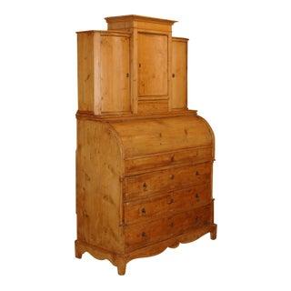 Early 19th Century Pine Biedermeier Secretary For Sale