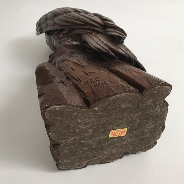 Plastic Vintage Red Mill Eagle Statue For Sale - Image 7 of 8