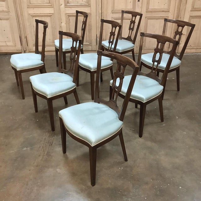 Hepplewhite Antique Hepplewhite Dining Chairs - Set of 8 For Sale - Image 3 of 12