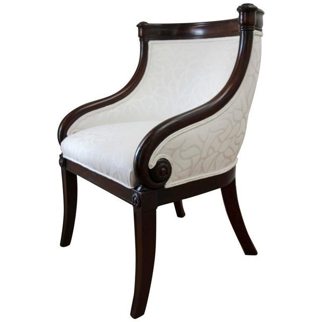 Mahogany Empire Tub Chair, France 19th Century For Sale - Image 7 of 7