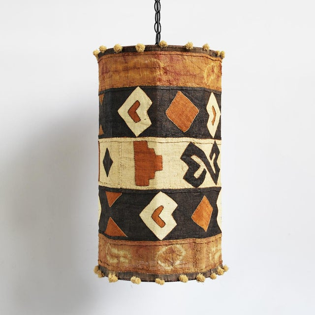 Kuba Cloth Pendant Lamp - Image 4 of 4