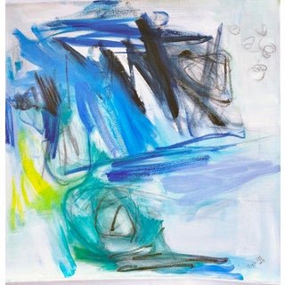 """""""Blue Horizon"""" by Trixie Pitts Abstract Oil Painting For Sale"""
