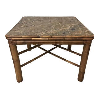 Bamboo Dining Card Table