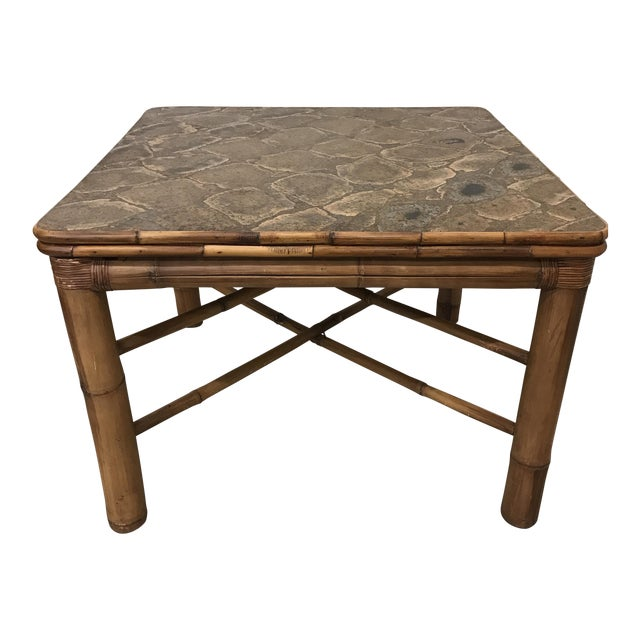 Bamboo Dining Card Table For Sale