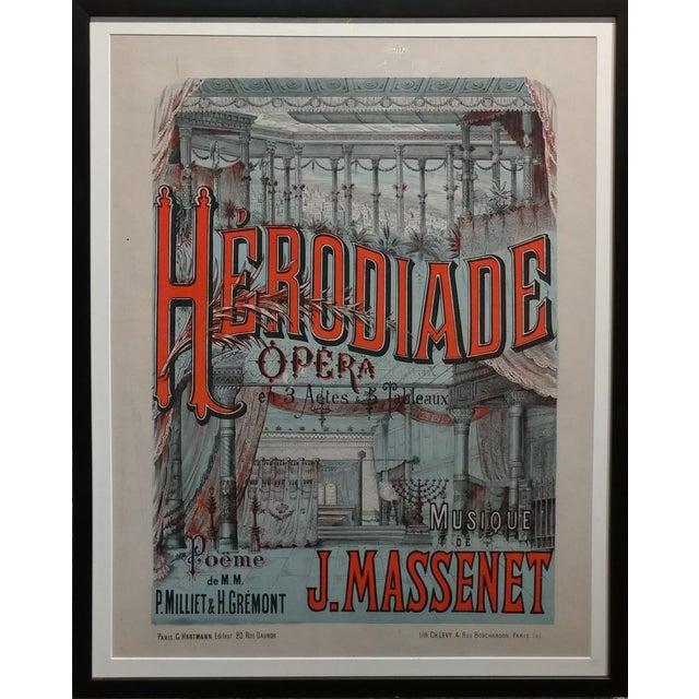 "Herodiade Opera de Jules Massenet-Vintage French Poster-c1910s frame size 23 x 29"" poster size 17 x 23"""