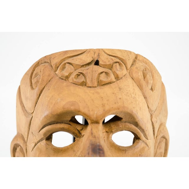 Italian Wood Carved Decorative Male Masks - a Pair For Sale - Image 9 of 13