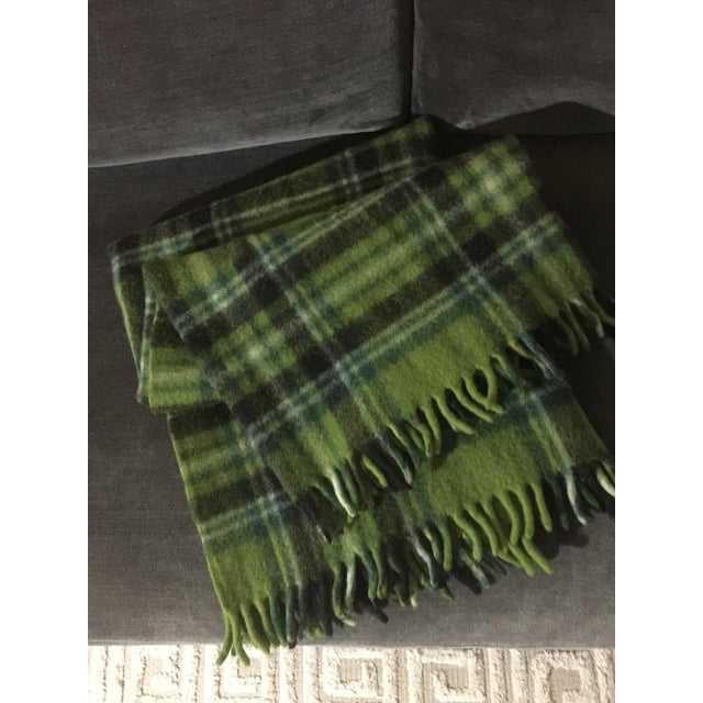 Mid-Century Modern Wool Plaid Throw For Sale - Image 4 of 5