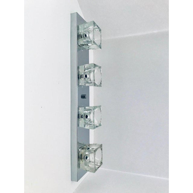 Mid-Century Modern Chrome Wall Light With Cubist Design by Gaetano Sciolari For Sale In New York - Image 6 of 13