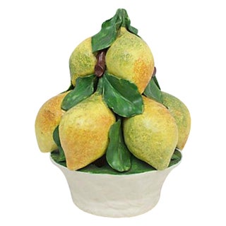 Italian Pottery Lemon Topiary