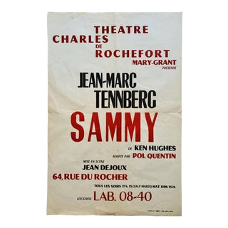 Vintage French Theatre Charles De Rochefort Poster For Sale