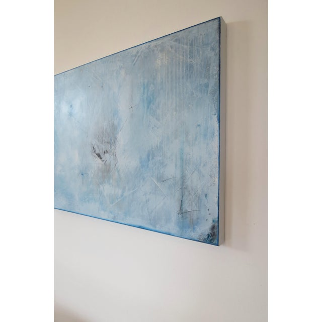 Blue Veil. Original Mixed Media Oil on Canvas by C. Damien Fox 2018 - Image 4 of 9