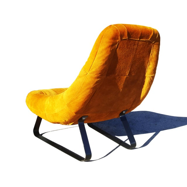 Percival Lafer Mid-Century Modern Percival Lafer Brazilian Space Age Earth Lounge Chair and Ottoman For Sale - Image 4 of 9