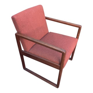 1960s Stow-Davis Teak Wood and Fabric Side Chair For Sale