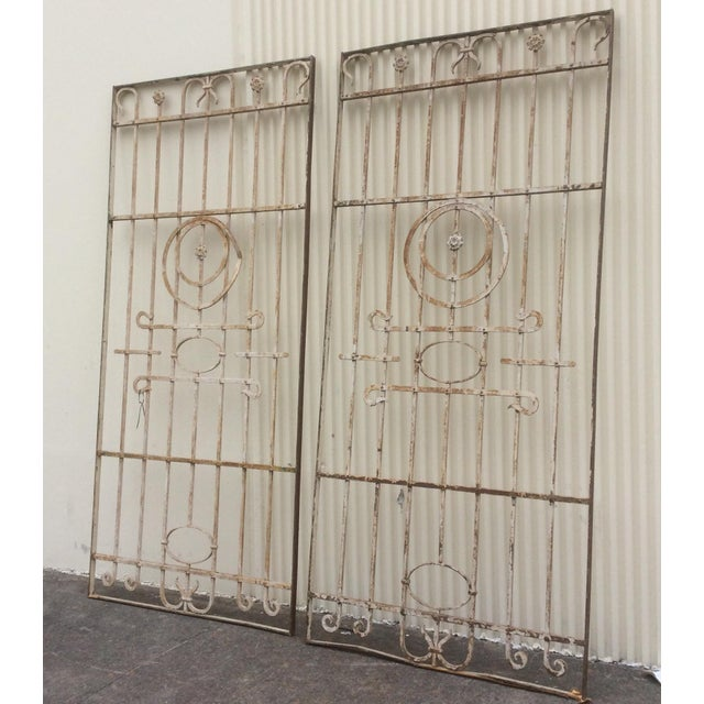 Pair Antique Iron Gates - A Pair For Sale - Image 10 of 10