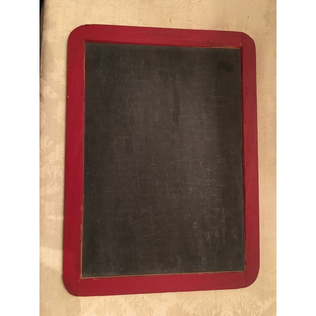 Vintage School House Red Chalk Board - Image 2 of 7