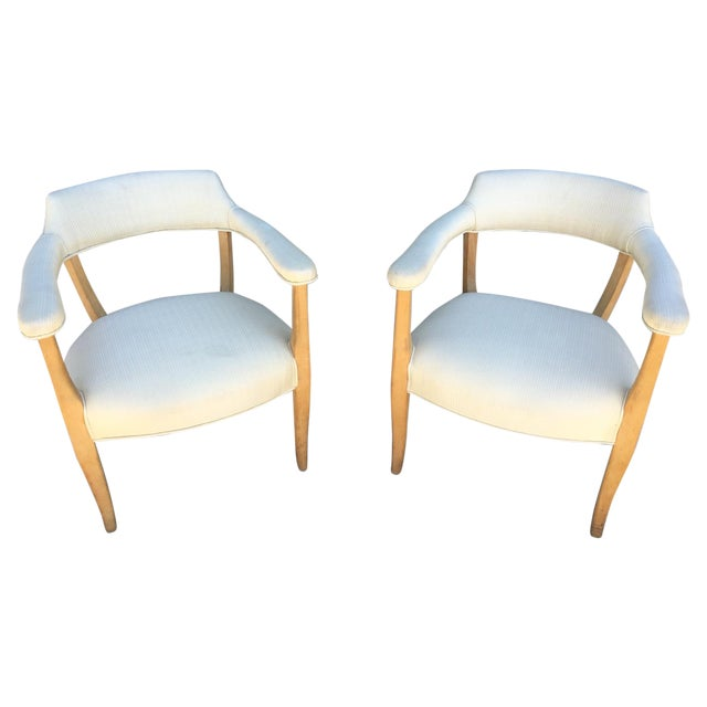 Mid-Century Sculptural Armchairs - A Pair For Sale