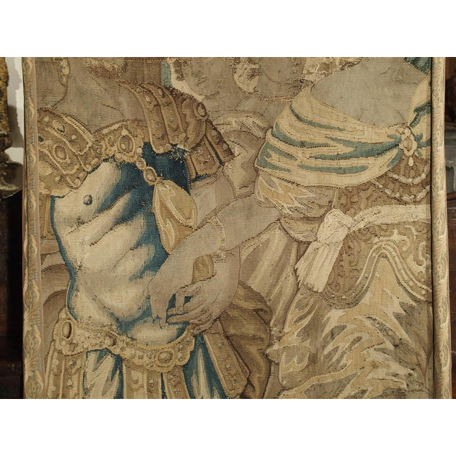 17th Century French Tapestry Fragment on Frame For Sale - Image 10 of 11