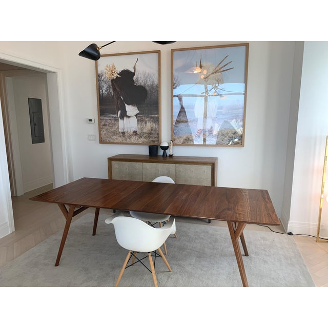 West Elm Mid Century Expandable Dining Table Chairish