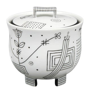 """Mythos"" Covered Sugar Bowl by Josef Hoffmann For Sale"