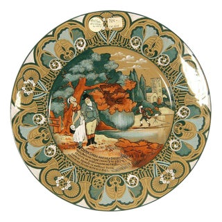 "Buffalo Pottery Deldare ""Dr Syntax"" Plate For Sale"