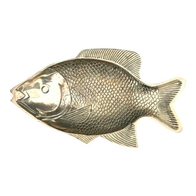Vintage Brass Fish Dish - Image 1 of 8