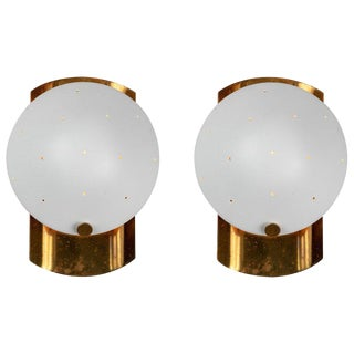 1950s Italian Perforated Sconces - a Pair For Sale