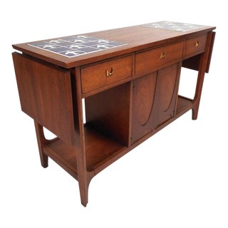 Broyhill Brasilia Drop-Leaf Console Table For Sale