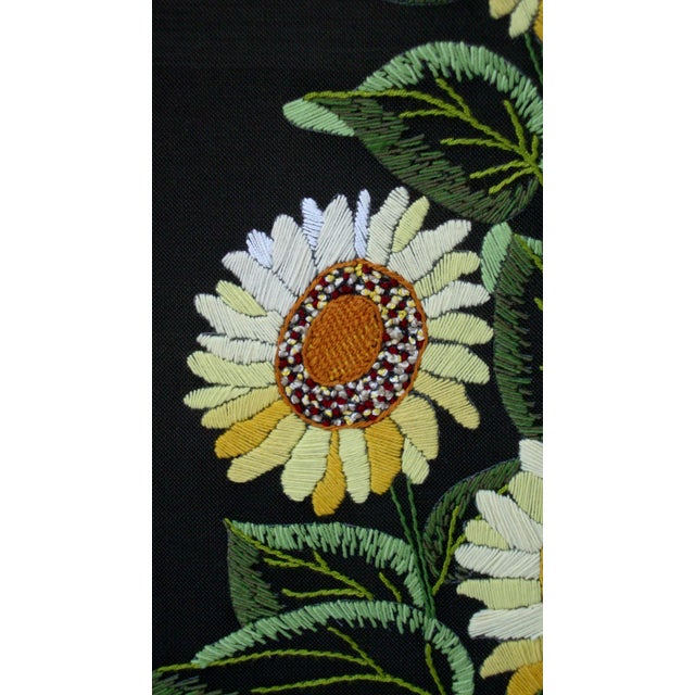 Vintage Sunflowers Original Needlepoint Art - Image 7 of 8