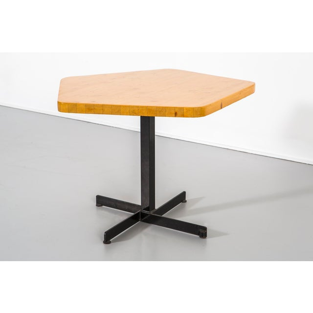 Mid-Century Modern Les Arcs Pentagonal Table by Charlotte Perriand For Sale - Image 3 of 9