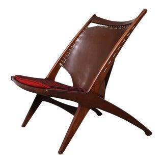 "Mid-Century Modern Fredrik Kayser Krysset ""The Cross"" Teak Lounge Chair For Sale"