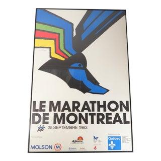 "Abstract Vintage Vittorio Fiorucci 1983 ""Le Marathon De Montreal"" Art Poster For Sale"
