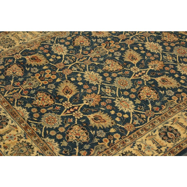 Textile Shabby Chic Istanbul Gilbert Teal/Ivory Turkish Hand-Knotted Rug -4'2 X 5'11 For Sale - Image 7 of 8