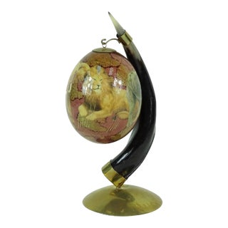 Vintage Horn With Lacquered Egg For Sale