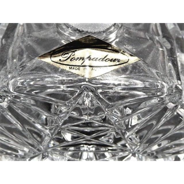 Art Deco Crystal Perfume Bottle Pompadour For Sale - Image 9 of 9