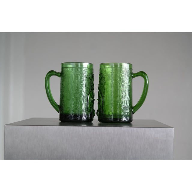 Set of 6 Viking Glass Beer Mugs by John Käll for Elme Glasbruk Sweden - Image 3 of 8
