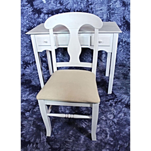 Whittier Furniture White Painted Children's Desk & Chair - Image 9 of 11