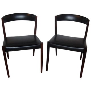 Pair of Custom Quality Danish Mid-Century Modern Side Chairs For Sale