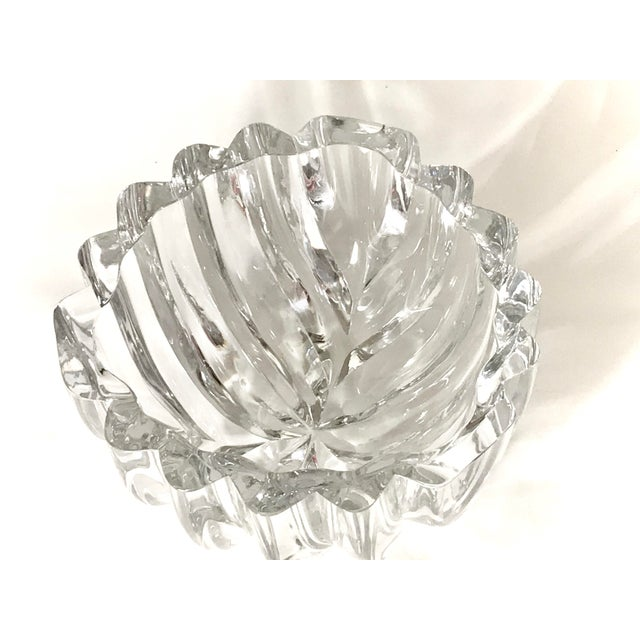 1970s Orrefors Swedish Signed Crystal Isabella Bowl For Sale In Dallas - Image 6 of 12