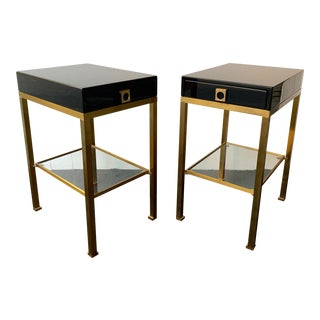 Pair of Lacquered Side Tables by Guy Lefevre. France, 1970s For Sale