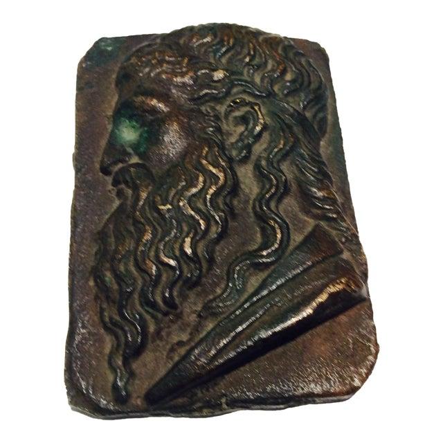 Antique Classical Cabinet Bronze Profile Portrait - Image 1 of 7