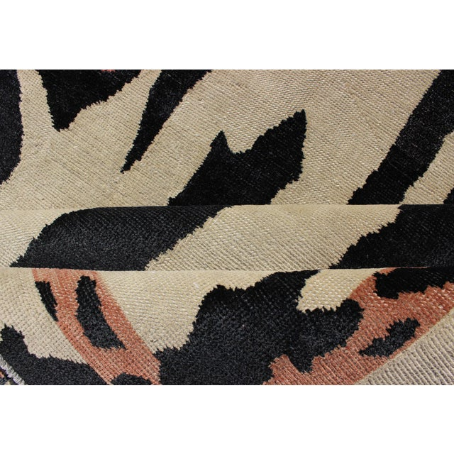 Keivan Woven Arts Zebra Print Mid-Century Modern Design Rug- 4′7″ × 7′6″ For Sale - Image 10 of 12
