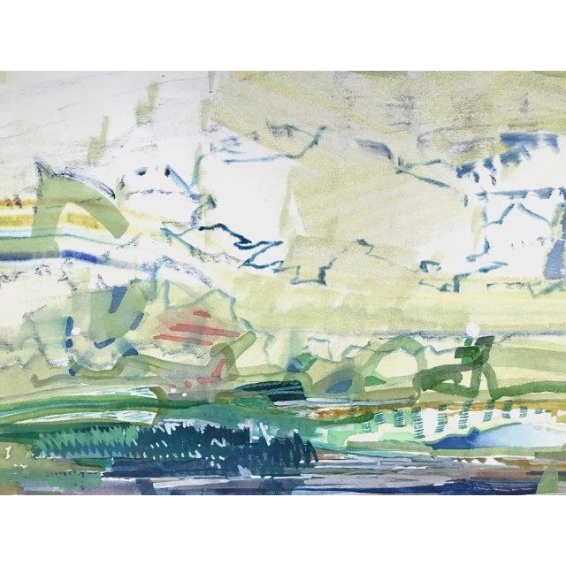 "Josette Urso Josette Urso ""Slow Turn"" Painting, 2018 For Sale - Image 4 of 5"