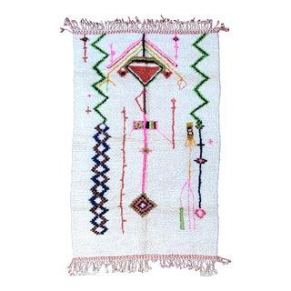 1990s Berber Morocco Rug Azilal Rug- 6′6″ × 10′2″ For Sale