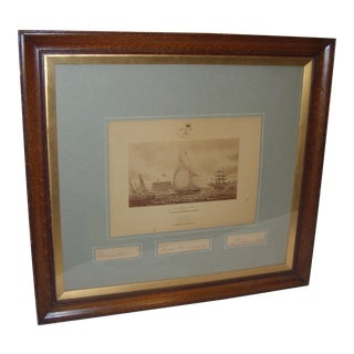 Framed Photo of The Terrible Fiona Yacht, 1899 For Sale