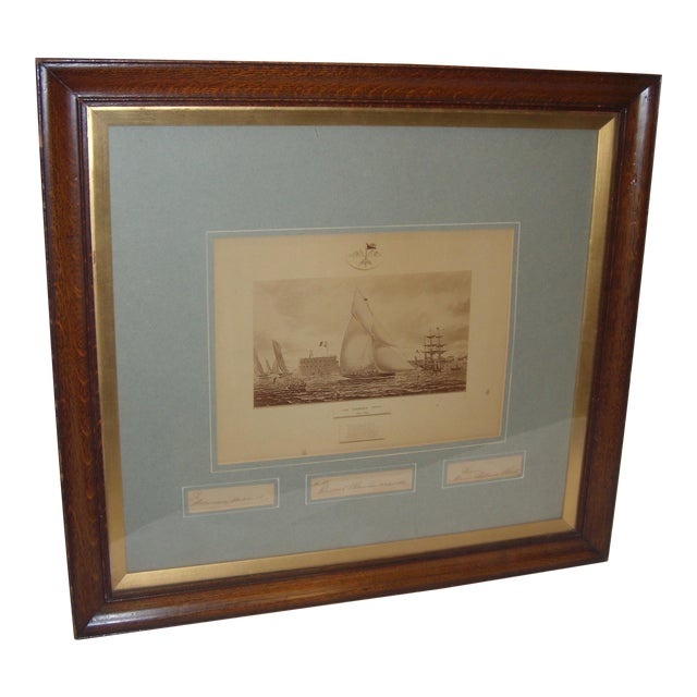 Framed Photo of The Terrible Fiona Yacht, 1899 - Image 1 of 11