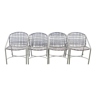 Vintage Modern Brown Jordan Kantan Dining Chairs - Set of 4 For Sale