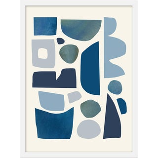 "Medium ""Symphony of Blue Cream"" Print by Kelly Knaga , 18"" X 24"" For Sale"